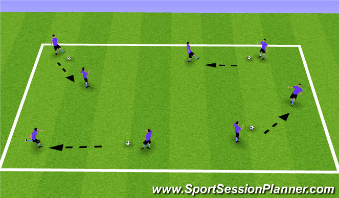 Football/Soccer Session Plan Drill (Colour): Passing Play Maker
