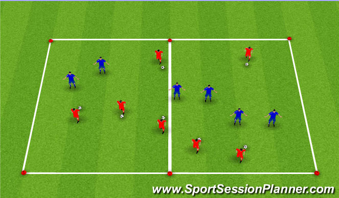 Football/Soccer Session Plan Drill (Colour): Moving Goal
