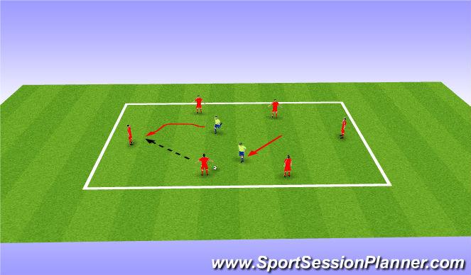 Football/Soccer Session Plan Drill (Colour): Pressing rondo