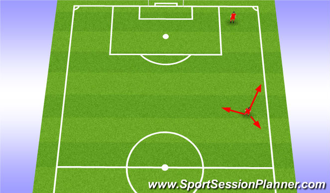 Football/Soccer Session Plan Drill (Colour): Winger movement