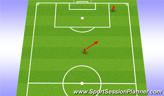 Football/Soccer Session Plan Drill (Colour): DM Movement