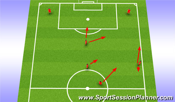 Football/Soccer Session Plan Drill (Colour): Passing Out