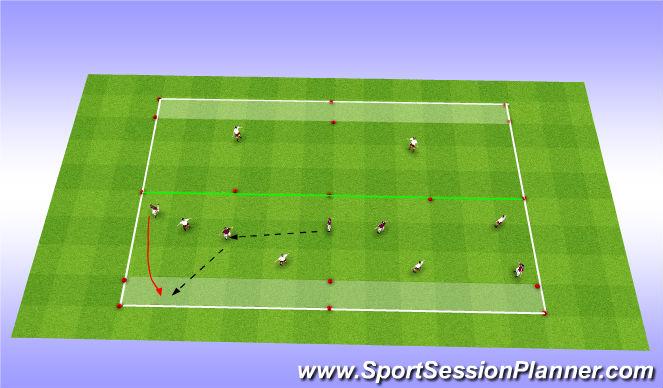 Football/Soccer Session Plan Drill (Colour): Main Theme 4