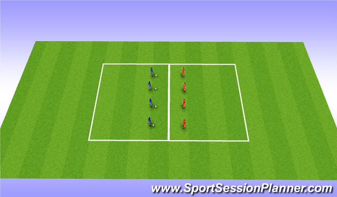 Football/Soccer Session Plan Drill (Colour): Basic Skills warm up