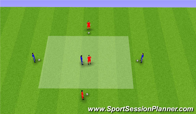 Football/Soccer Session Plan Drill (Colour): Power (Passing)