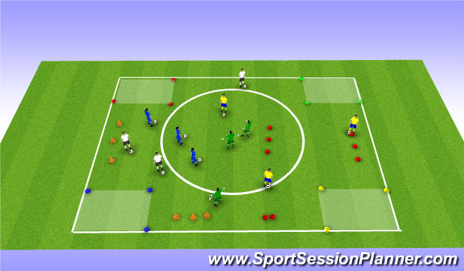 Football/Soccer Session Plan Drill (Colour): City Game