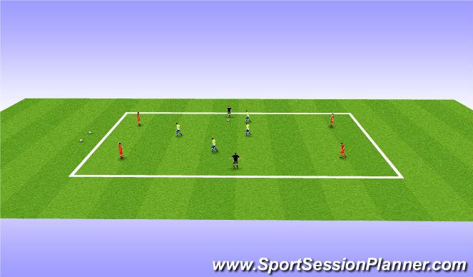 Football/Soccer Session Plan Drill (Colour): 4v4+2 Pos Play