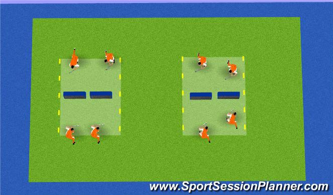 Hockey Session Plan Drill (Colour): tennishockey