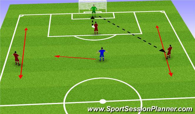Football/Soccer Session Plan Drill (Colour): Exercise 4