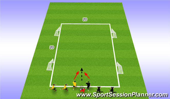 Football/Soccer Session Plan Drill (Colour): Warm-Up:  Get Out Of There