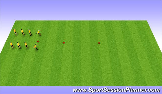 Football/Soccer Session Plan Drill (Colour): Brazilian Warmup