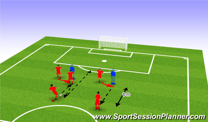 Football/Soccer Session Plan Drill (Colour): Wup
