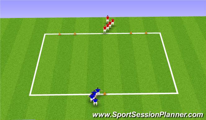 Football/Soccer Session Plan Drill (Colour): 1V1 ATTACK & BALL MASTERY