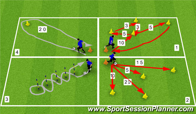 Football/Soccer Session Plan Drill (Colour): Aerobic Conditioning
