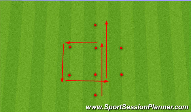 Football/Soccer Session Plan Drill (Colour): Speed and Endurance
