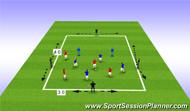 Football/Soccer Session Plan Drill (Colour): possesssion transition