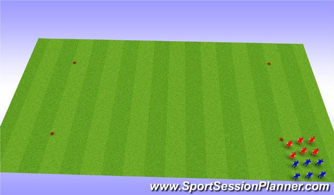 Football/Soccer Session Plan Drill (Colour): Box Sprints