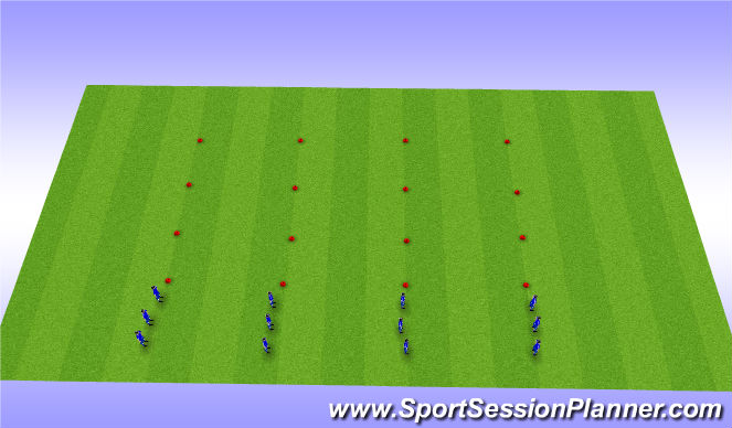 Football/Soccer Session Plan Drill (Colour): Shuttle races