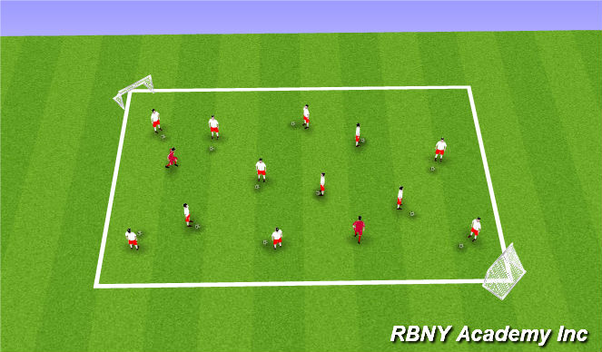 Football/Soccer Session Plan Drill (Colour): Spiderman Tag