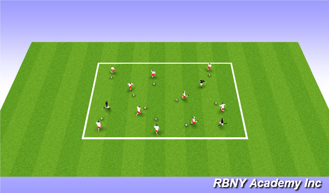 Football/Soccer Session Plan Drill (Colour): Spider Web Tag - Suggested Warm Up