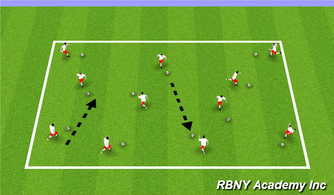Football/Soccer Session Plan Drill (Colour): Gotcha Ghosts!