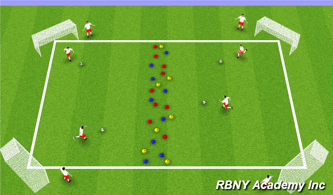 Football/Soccer Session Plan Drill (Colour): Trick or Treating