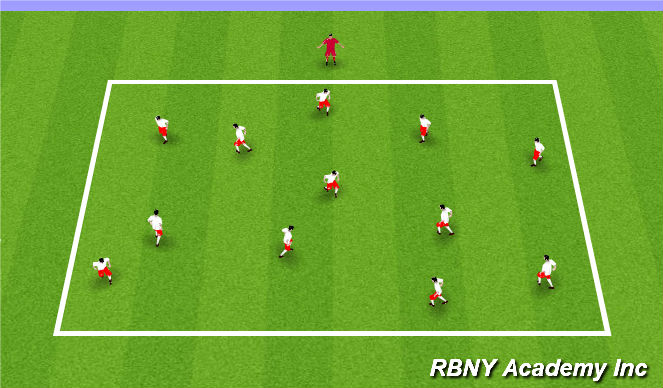 Football/Soccer Session Plan Drill (Colour): Mario Tag