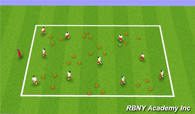 Football/Soccer Session Plan Drill (Colour): Mushroom Kingdom