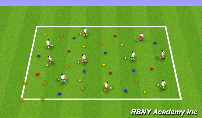 Football/Soccer Session Plan Drill (Colour): Superheroes