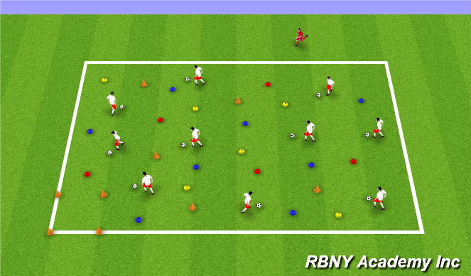 Football/Soccer Session Plan Drill (Colour): Clean Up Hulks Bedroom