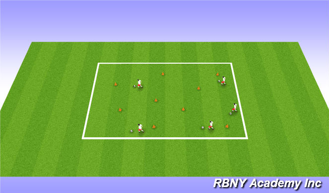Football/Soccer Session Plan Drill (Colour): Bruce's Field