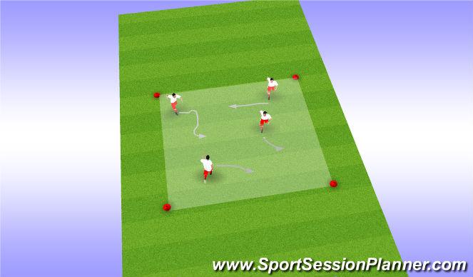 Football/Soccer Session Plan Drill (Colour): Warmup box