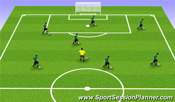 Football/Soccer Session Plan Drill (Colour): skills
