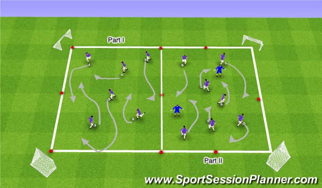 Football/Soccer Session Plan Drill (Colour): Warm-up Arrival