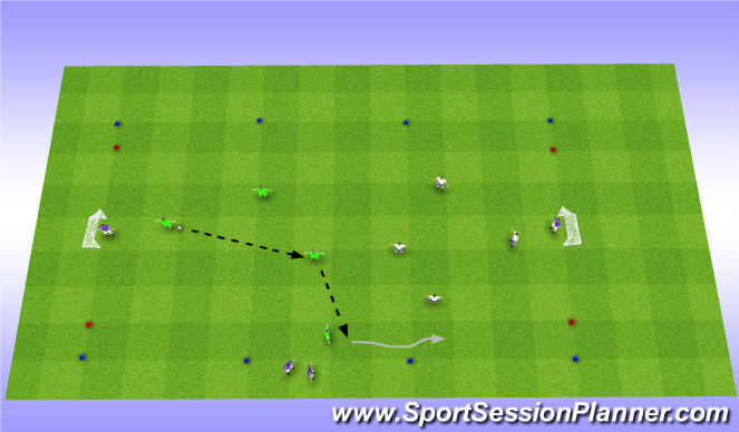Football/Soccer Session Plan Drill (Colour): Scrimmage/Futsal Rules