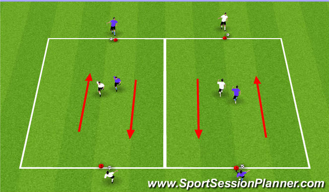 Football/Soccer Session Plan Drill (Colour): Check To