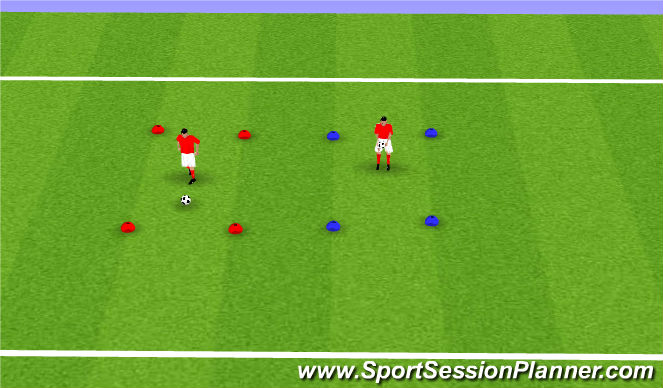 Football/Soccer Session Plan Drill (Colour): Juggling Benchmark