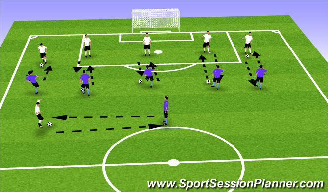 Football/Soccer Session Plan Drill (Colour): Defensive Reactions
