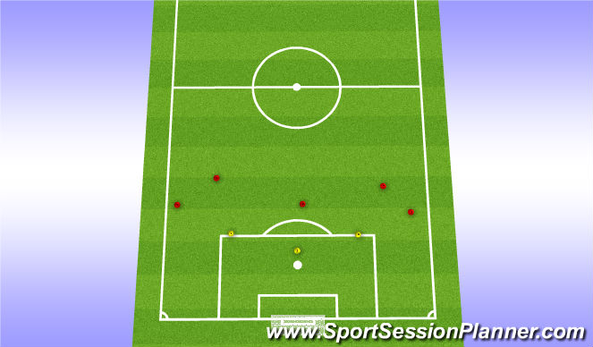 Football/Soccer Session Plan Drill (Colour): Long Distance Passing Drill