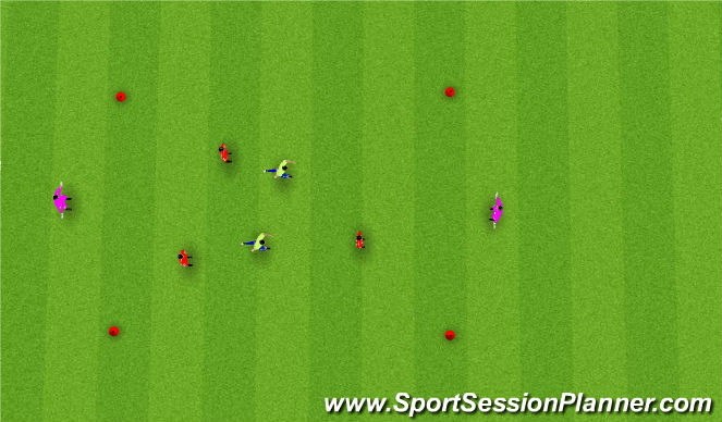 Football/Soccer Session Plan Drill (Colour): Transition Keep Away