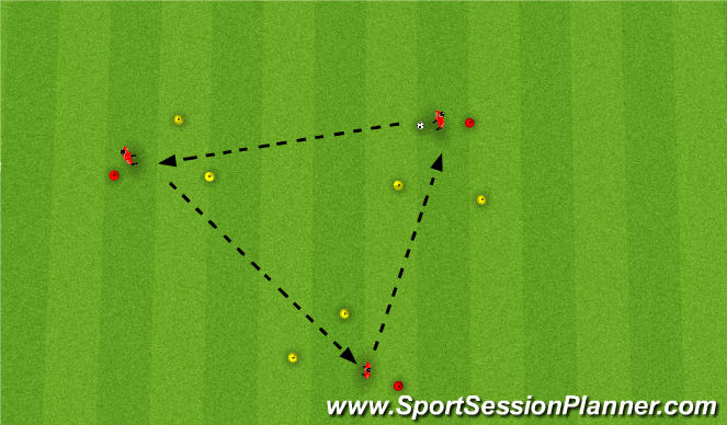 Football/Soccer Session Plan Drill (Colour): Long Distance Passing