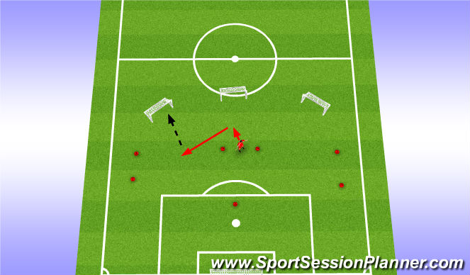 Football/Soccer Session Plan Drill (Colour): Distribution Game like