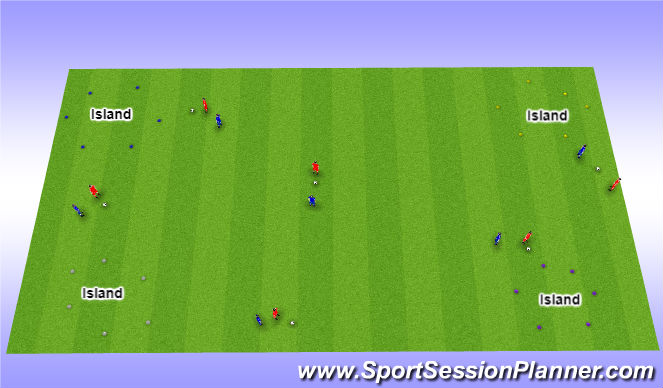 Football/Soccer Session Plan Drill (Colour): Pirate Game Progression 3
