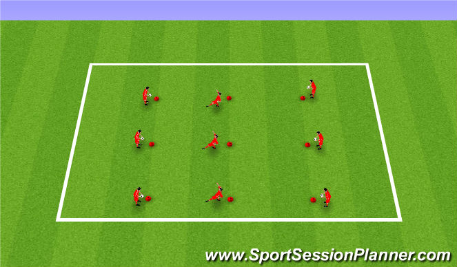 Football/Soccer Session Plan Drill (Colour): Touch Work