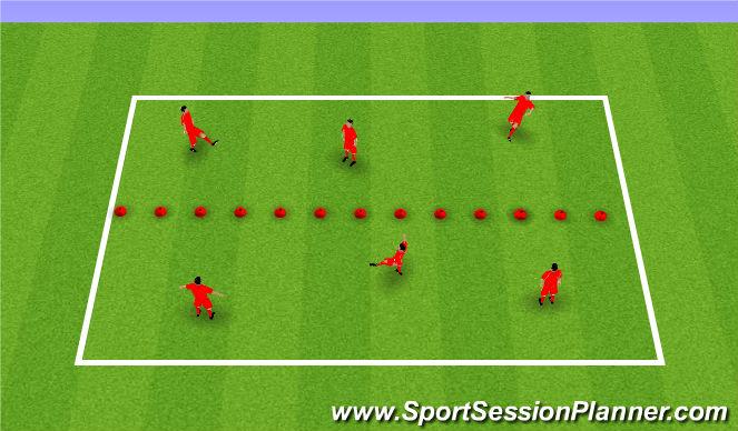 Football/Soccer Session Plan Drill (Colour): Vball