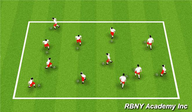 Football/Soccer Session Plan Drill (Colour): Ball Mastery SAQ