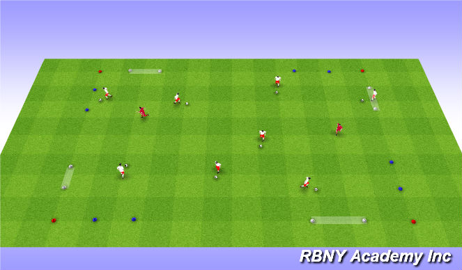 Football/Soccer Session Plan Drill (Colour): In and Out Game