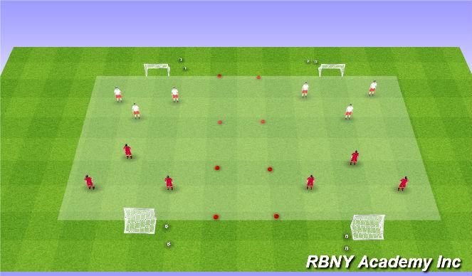 Football/Soccer Session Plan Drill (Colour): 3vs3 Games
