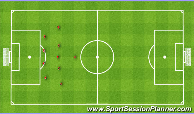 Football/Soccer Session Plan Drill (Colour): Base. Baza.