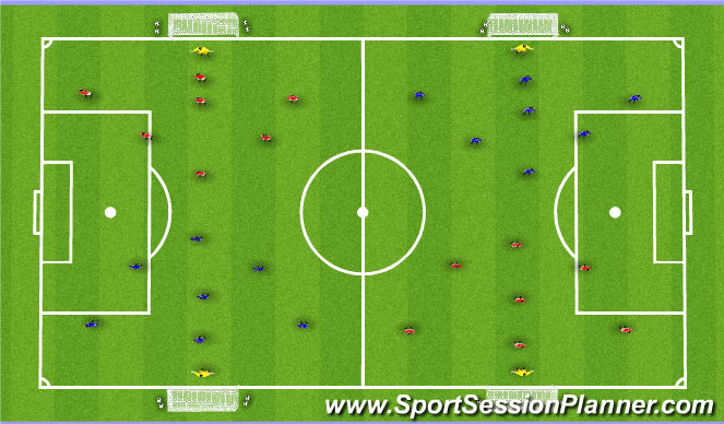 Football/Soccer Session Plan Drill (Colour): Scrimmage 9v9